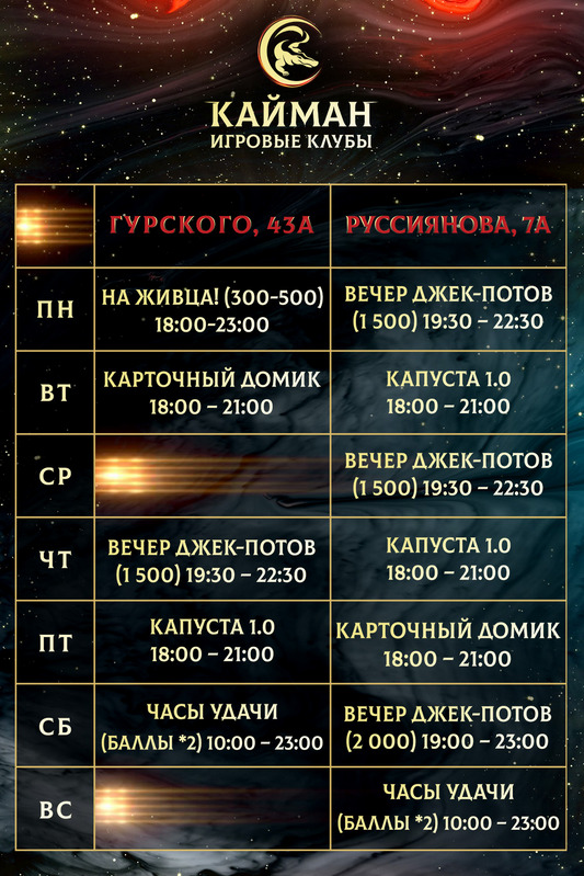 Акции недели в Кайман Минск!