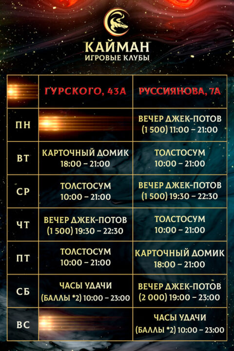 Актуальные акции в Кайман Минск!
